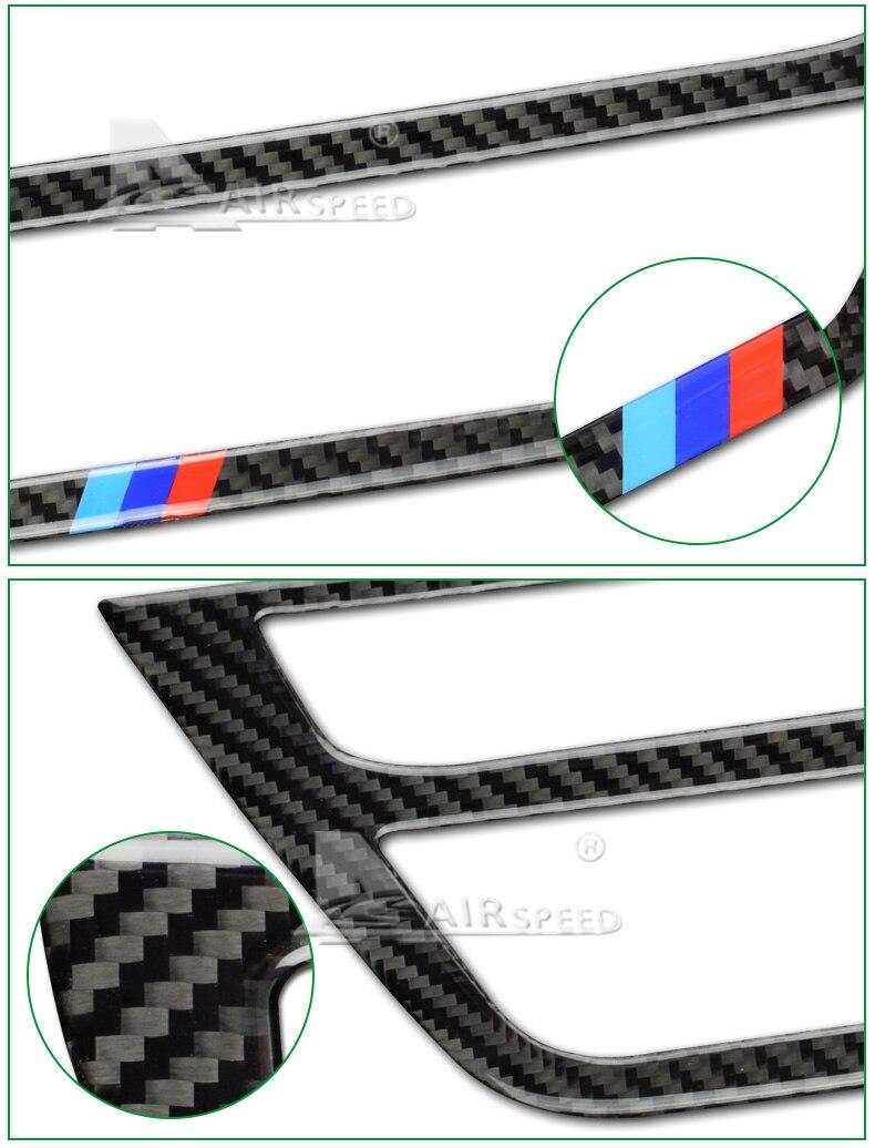 BMW 5 Series G30 528i 530i 540i Carbon Fiber Car Central Console Decorative Frame Interior Accessories Car Styling (4)