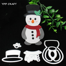 YPP CRAFT Cute Snowman Metal Cutting Dies Stencils for DIY Scrapbooking Stamp/photo album Decorative Embossing DIY Paper Cards(China)