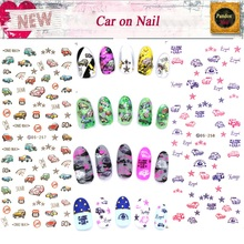 DS257 DS258 DIY Nail Design Water Transfer Nails Art Sticker Retro Cars Elements Nail Wraps Sticker Watermark Fingernails Decals