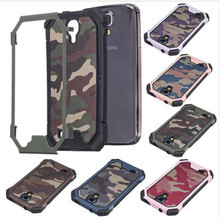3 in 1 Army Camo Camouflage Pattern Back Cover Hard Plastic + Soft TPU Armor Protective Case Cases For Samsung Galaxy S4 S5 S6