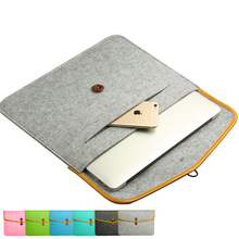 "11 13 15.4"" Ultrathin Light Weight Wool Felt Cover Case for Macbook AIR 11 13.3 Pro 13 Retina 13 15.4 inch Computer Notebook Bag"
