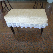 Double piano stool Promotion New 122cm 11-50 Pianos Grand Piano Pale Yellow Stool Cover Cotton Cloth Piano  Double Bench