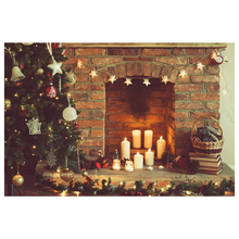 7X5FT 210X150CM vinyl Christmas theme picture cloth custom photography background studio props Stone brick fireplace Chris(China)