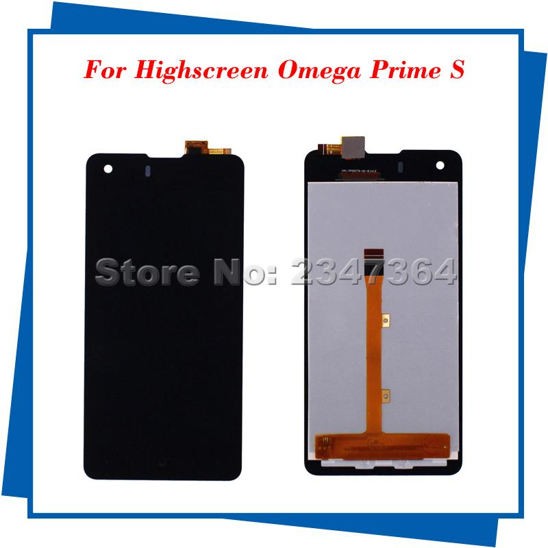 10pcs/lot For Highscreen Omega Prime S  LCD Display Touch Screen Black Color Mobile Phone LCDs<br><br>Aliexpress