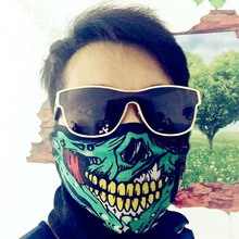 Halloween Scary Mask Festival Skull Masks Skeleton Outdoor Motorcycle Bicycle Multi Masks Scarf Half Face Mask Cap SUO5(China)