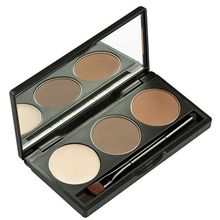 Makeup BrowPow Waterproof Eyebrow Powder Cake Palette Eye Shadow Eye Brow Cosmetics Women Beauty Care Eyes Eyebrow Set Kit(China)