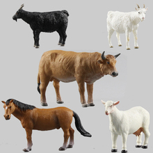 Free shipping Quality is very good simulation model Animal models goat scalpers cow horse Farm animal models(China)
