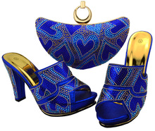 Latest Shoes and Bag Set African Sets Matching Shoes and Bags for African Party Nigerian Shoes and Bag Set  BCH-34