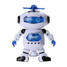 Kids Dancing Robert Toys Plastic Electronic Walking Dancing Smart Space Robot Astronaut Children Fun Music Light Toy Gift(China)