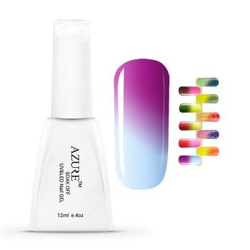 УФ Лак Для Ногтей Гель Температура Изменение Цвета UV LED Гель-Лак 12 мл 1 шт. Ногтей Гель для Ногтей выдерживает с гель для ногтей