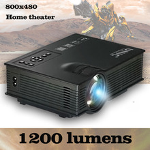 UNIC UC40/UC40+ mini led lcd full HD 1080P projector beamer 800*480 1200lumens big screen for PC laptop smartphones TV DVD(China)