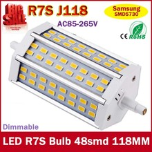 R7S LED Lamp 48pcs SMD5730 118mm J118 85-265V LED r7s Light Bulb Energy Saving Perfect Replace Halogen Lamp Free Shipping