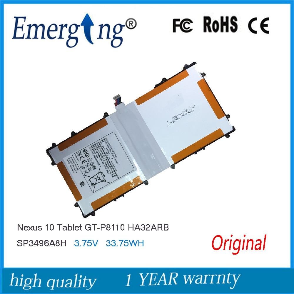 3.75V 9000mAh New Original Battery for Samsung Google Nexus 10 GT-P8110 HA32ARB SP3496A8H P8110<br>