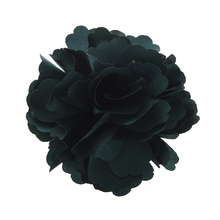 Best Sale Silk Flower Hair Clip Wedding Corsage Flower Clip 8cm - Dark Green(China)