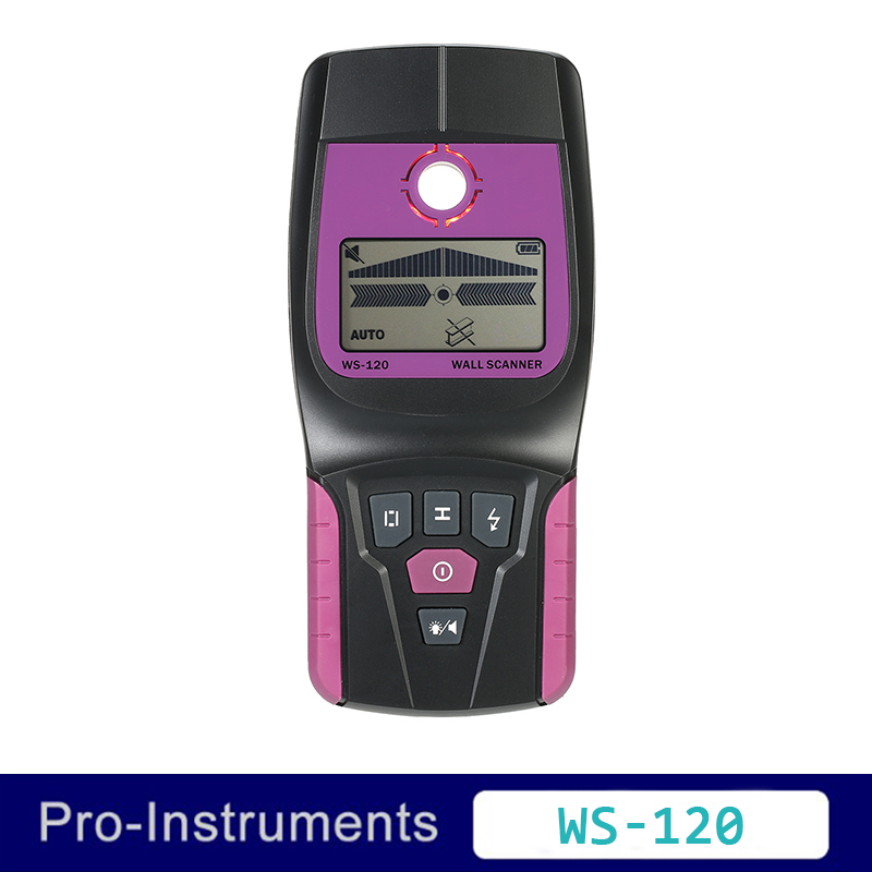 WS-120  Wall Scanners Ferrous Metals and Non-ferrous Metal Copper Wood AC Cable Flashing LED Light and Beep Indication <br>