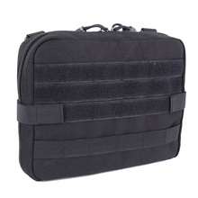 Black Outdoor Military MOLLE Admin Pouch Tactical Pouch Multi Medical Kit Bag Utility Pouch Camping Walking Hunting j2