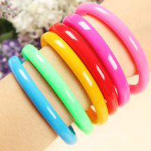Free shipping Cute Colorful Bracelet Hand Wrist Length Mixed Color Rubber Pen Ballpoint office pencils writing School Supplies