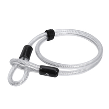 1.2m/3.94ft Cycling Bicycle Steel Cable Lock Thickened Extended Steel Cable Lock Transparent PVC Security Lock Safety Bike Lock