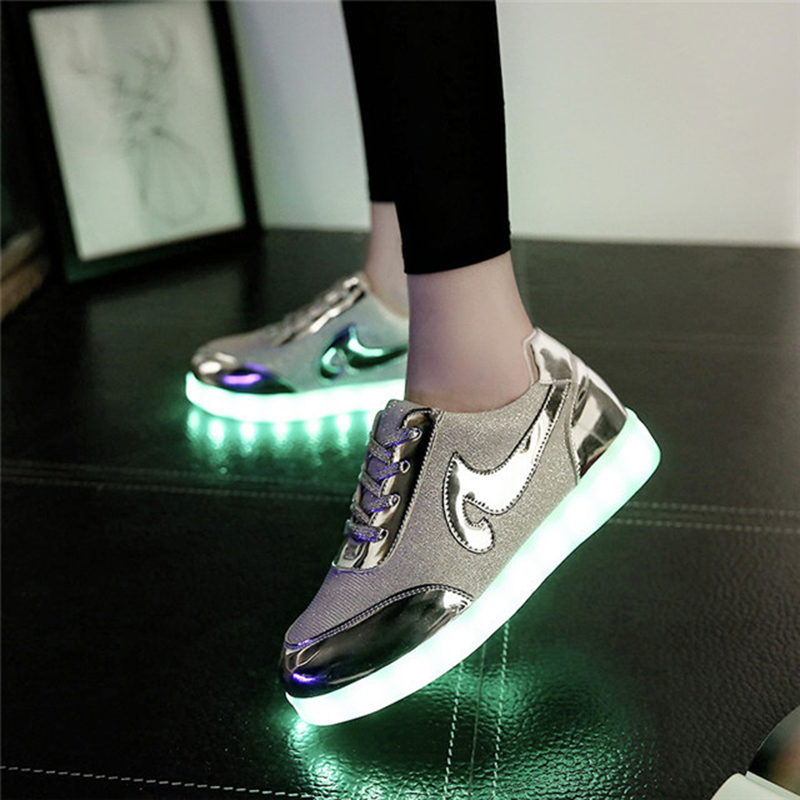 2017 NEW arrival Led Shoes Women Valentine Fashion USB Rechargeable Light Up For Adults 7 Colors Luminous Shoes zapatos mujer<br><br>Aliexpress