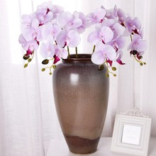 7 pcs/Bunch  Artificial Orchid Flowers Real Touch Butterfly Florals Wedding Festival Home Decoration