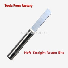 Free Shipping Haft Straight Router Bits CNC Cutter Carbide Cutting Tools Engraving Bit Work on PVC/Wood Machine