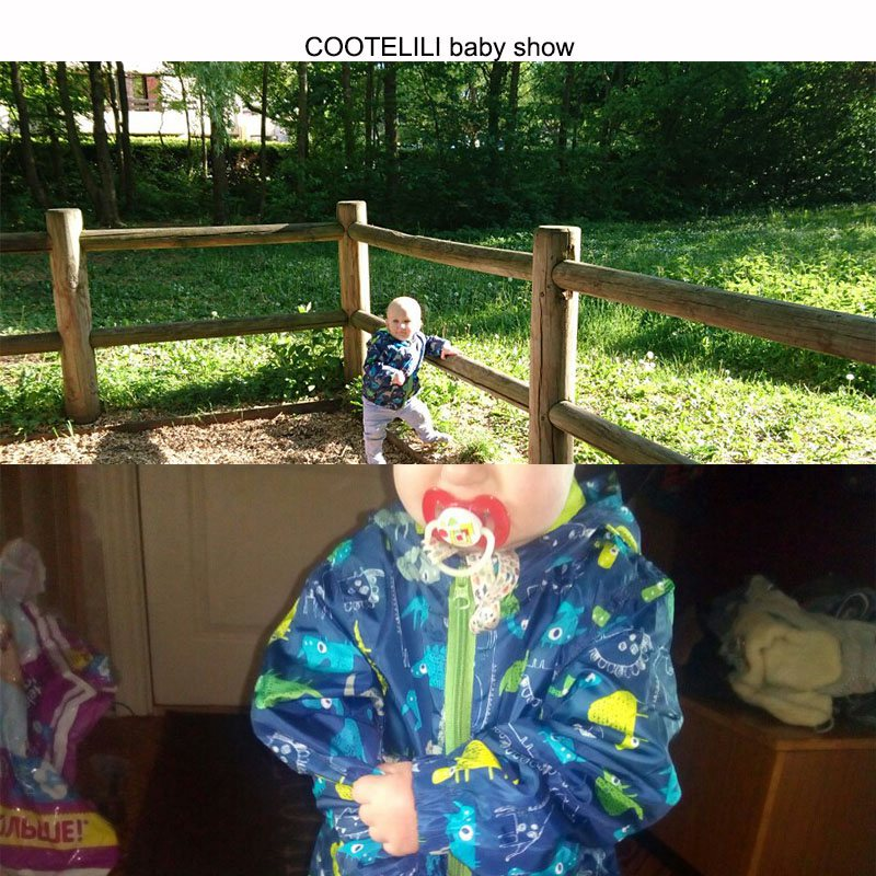 COOTELILI 80-120cm Spring Autumn Dinosaur Windbreaker Kids Jacket Boys Outerwear Coat Hooded Baby Clothing For Boys (2)