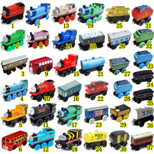 10 Pcs/Lot Thomas And Friends Train Car Wooden Complete Set Of Car Toy Engine Train Toys
