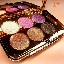New Arrival 1 set 6-color  Diamond Shine Eye Shadow Palette  Makeup kit 6 Styles You can Choose Best Gift For Women Girls