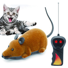 Cat Toy Wireless Remote Control False Mouse Novelty RC Cat Funny Playing Toys For Cats Kitten(China)