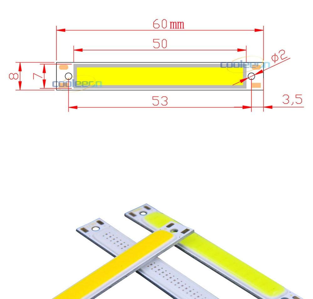 cob led strip light lamp bulb car lighting 3.7V 3w (1)