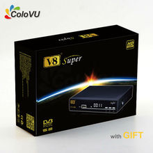 HD Satellite Receiver FreeSat V8 Super + Gift support IPTV cccam newcamd Biss PowerVU Multi-CAS 3G GPRS WiFi(China)