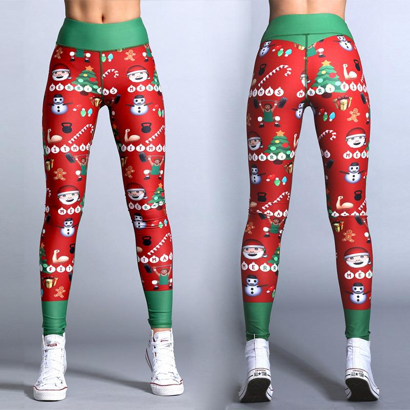 Hayoha Christmas Printing Leggings | Polyester Leggings 6