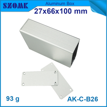 1 piece top selling DIY aluminum cases aluminum instrument market 27*66*100MM