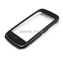 For Nokia Lumia 610 New Touch Screen Panel Digitizer Glass Lens Sensor Repair Parts Replacement With Frame Bezel Housing
