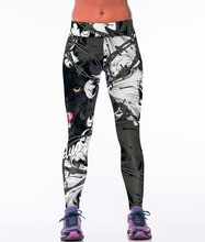 High Waist Leopard Tiger 3D Print Sporting Leggings Fitness Gymnatics Clothing For Women 2016 New Runs Pants Knitted Leggins