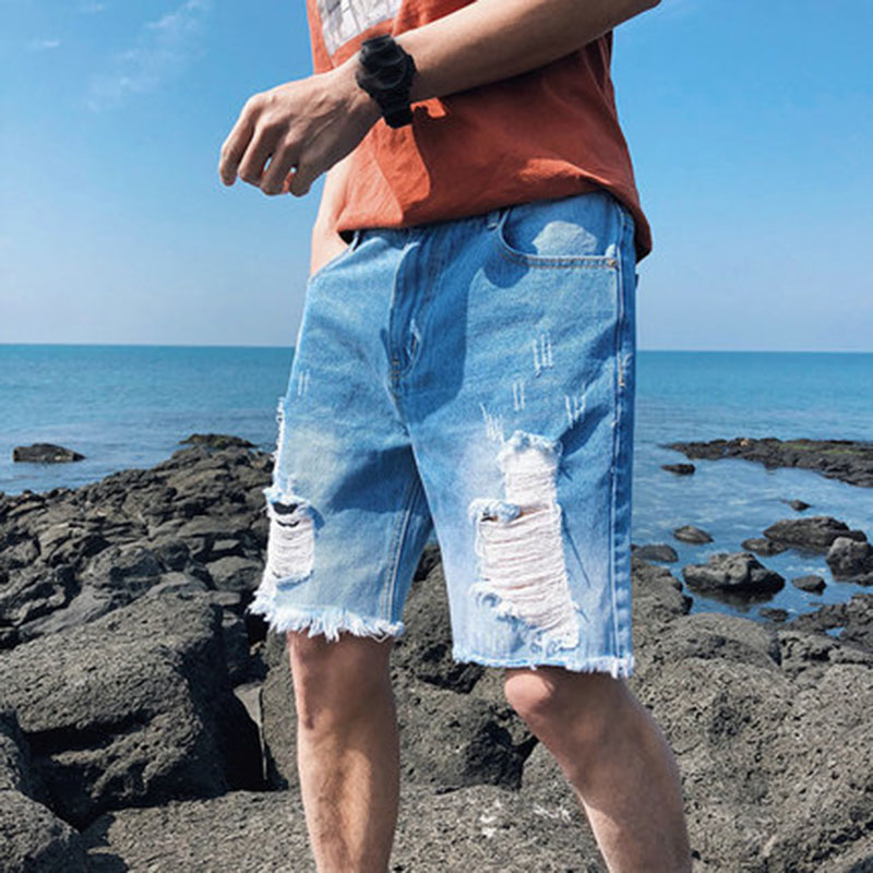Summer Hollow Out Mens Short Jeans Fashion Slim Plus Size 5XL Loose Denim Shorts High Quality Short Trousers Male A211