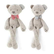 Soft Toy Bear Stuffed Plush Animals Comfortable Pillow Plush Dolls Baby Sleeping Dolls Stuffed Toys Baby Girls Soft Toy(China)
