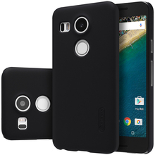 For LG Nexus 5X cover case Original Nillkin Super Frosted Shield case for LG nexus5 X 2015 with screen protector(China)