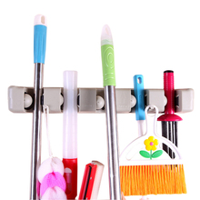 Multi-purpose Multi Placed Door Rack Hooks Kitchen Hanging Holders Mop Brush Broom Organizer Holder
