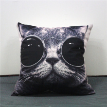 Black Cat Animal Classic Vintage Cushion Covers Cotton line Pillow Cases For Kids Baby Girl Boy Bedroom Decor cojines