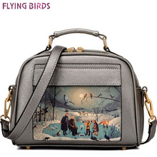 Flying birds! women leather handbag famous brands women messenger bags women's bag pouch bolsos high quality female bag LS8235fb(China)