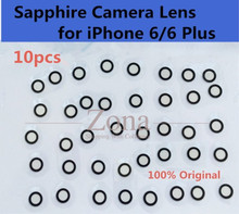"10pcs Original Camera Single Glass Lens for iPhone 6/ 6 Plus;Sapphire Crystal Single Glass Without Frame for iPhone 6 4.7""/ 5.5""(China)"
