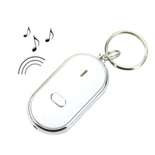 New Sound Whistle Control White LED Key Finder Locator Find Lost Keychain Keys Chain
