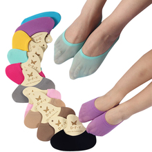 women summer shallow mouth Invisible antiskid boat socks female super elastic cute candy colors low socks 10pairs/lot(China)
