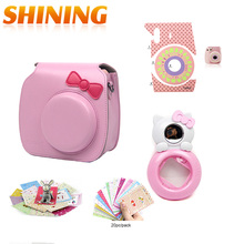 Fuji Fujifilm Instax Mini 7s 8 Camera Accessories Leather Bag Case Photo Stickers Hello Kitty Self-portrait Mirror Close-up Lens