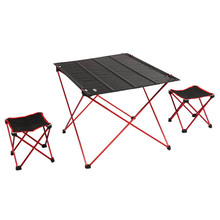 Outdoor Folding Table Ultra-light Aluminum Alloy Structure Portable Camping Table Furniture Foldable Picnic Table JC