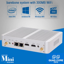 Eglobal Nuc Fanless Mini PC Windows 10 Linux Barebone Computer Intel N3150 Quad Core Max 2.08GHz 2*Lans VGA HDMI TV Box HTP(China)