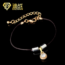 Fashion Jewelry Wholesale New Style Female Crystal Charms Bracelet For Women Punk Potter Leather Rope Bracelets Accessories(China)