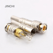 JINCHI gold-plated connectors 75-5 American Free welding head BNC Q9 pure copper Free welding adapter(China)