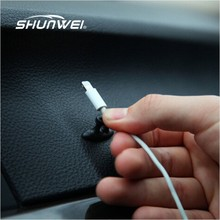 8Pcs/Lot Useful Fixed Clamp Cable Clip Automotive Wiring in-Car Dashboard Wire Cable Management Clip Finishing Line Card(China)